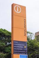 sydney cirkulär kajtågstation i australien foto