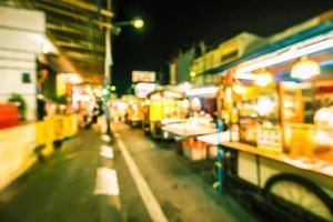 abstrakt defocused nattmarknadsgata i Hua Hin foto