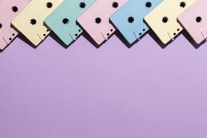 kassettband bakgrund med kopia utrymme foto