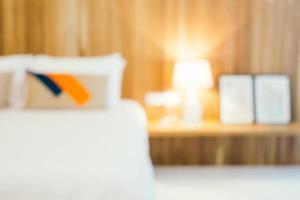 abstrakt defocused sovrum inredning för bakgrund foto