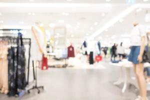 defocused abstrakt köpcentruminredning för bakgrund foto