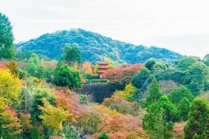kiyomizu dera-templet i Kyoto, Japan foto