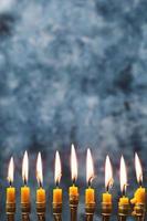 närbild av järnstearinljus foto