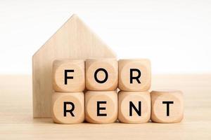 för uthyrningskoncept fastighetsmarknad foto