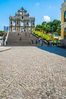 Kina, Macau - 6 september 2018 - Ruin of St. Paul kyrka foto