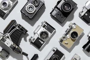 vintage fotokameror arrangemang foto
