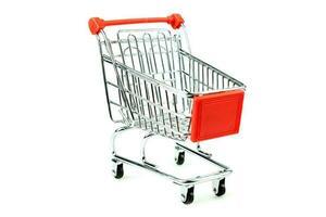 fyra hjul shopping vagn foto