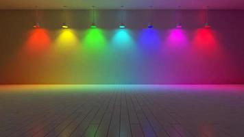 3d interiör-spektrum färg foto