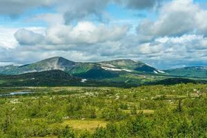 vacker utsikt över de svenska högländerna foto