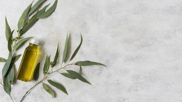 spa-sammansättning av hälsosam livsstil med olivolja foto