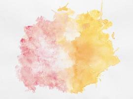 dubbelfärgad akvarellfärg med kopieringsutrymme foto