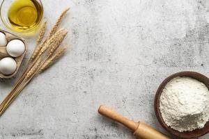 pastaingredienser för deg foto
