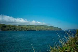 naturlig bakgrund med utsikt över Bajkalsjön foto