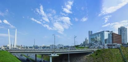 panorama över stadsbilden med utsikt över mariinsky teatern. foto
