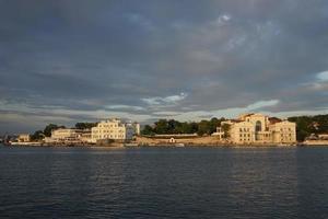 stadslandskap och arkitektur. Sevastopol, Krim. foto