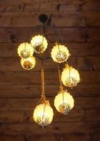 vacker lampa i vintage stil foto