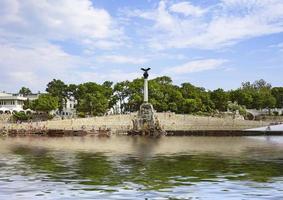 Sevastopol, Krim. marinmålning med utsikt över arkitekturen foto