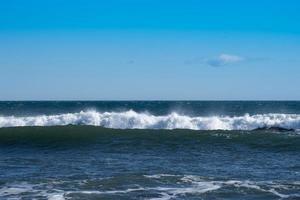 marinmålning med utsikt över stranden Khalaktyrka foto