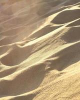 gyllene sand på stranden foto