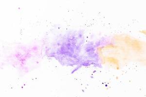 stänk av violett gul färg foto