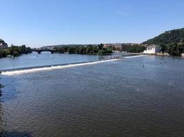 Prag vltava floden foto