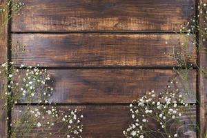 ljus vita blommor trä. vackert fotokoncept med hög kvalitet och upplösning foto