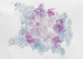 violett blå akvarellmålning. vackert fotokoncept med hög kvalitet och upplösning foto