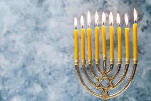 traditionell judisk ljusstake. vackert fotokoncept med hög kvalitet och upplösning foto