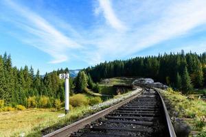 järnvägar i karpaterna foto