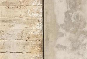 närbild sten och betongvägg foto