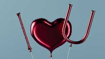 jag älskar dig meddelande ballonger foto