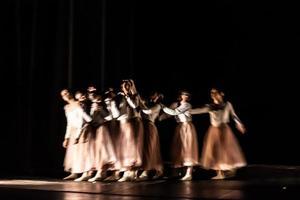 dansens abstrakta rörelse foto
