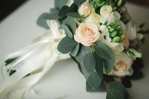 vacker bröllopsbukett foto