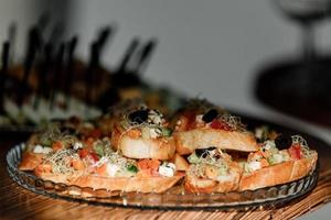 catering mat för fester företag foto