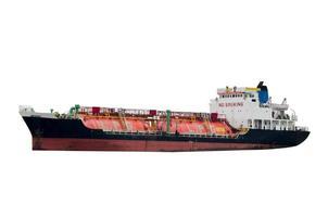 LPG tankfartyg vit bakgrund foto