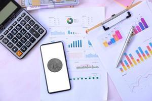 kryptovaluta mynt och digital valuta pengar koncept foto