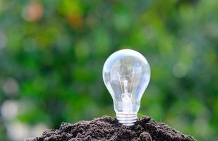 glödlampa bakgrund och utrymme för idé koncept foto