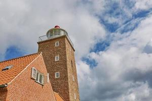fyrtorn i svaneke på ön bornholm danmark foto