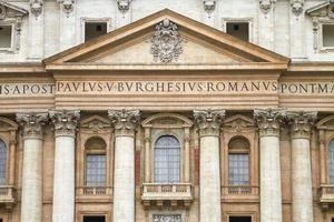 detalj av Saint Peter Basilica i Vatikanstaten Italien foto