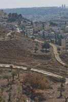 utsikt över den heliga staden Jerusalem i israel från olivberget foto