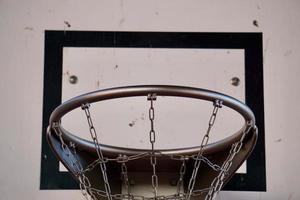street basket hoop sportutrustning foto