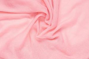 delikat mjukt och skrynkligt rosa tyg foto