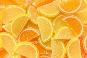 orange marmeladskivor foto