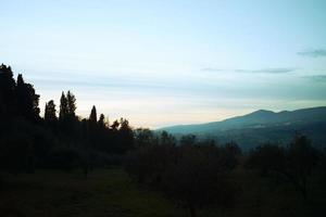ett toskansk landskap foto