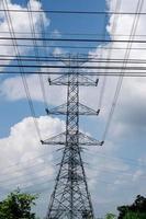 högspännings elstolpe foto