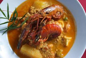 peruansk mat räkor suger foto
