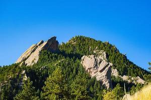 sommardag i Chautauqua Park i Boulder, Colorado foto