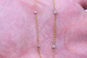 diamant halsband guld foto