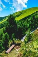 landskap på Monte Altissimo di Nago i Trento, Italien foto