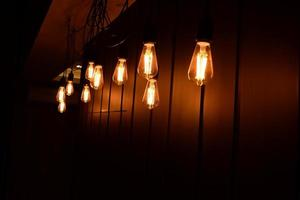 dekorativa glödlampor gamla foto